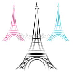 Abstract Eiffel Tower — Stock Vector #18856835