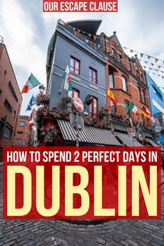 The Perfect 2 Day Dublin Itinerary : The Complete 2 Days in Dublin Itinerary: everything you need to know about spending a couple days in Dublin Ireland! trip to dublin Dublin Travel, Europe Travel Tips, Ireland Travel, Travel Guides, Travel Destinations, Travel Uk, Travel Info, Paris Travel, Travel Goals