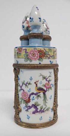 19th Century French Perfume Bottle w Bronze Mounts