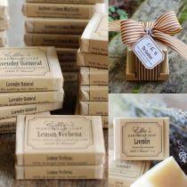lavender handmade soap wedding favor ideas