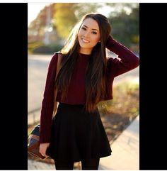 Crop top sweater w/ skirt