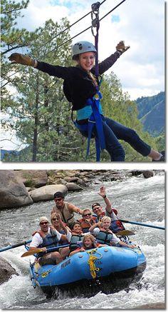 Raft and Zipline - 1/2 day raft trip and 2 hour zipline tour