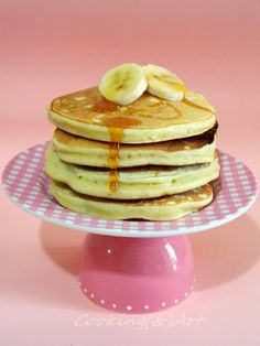 Cooking & Art by Marion: Αφράτες τηγανίτες / Fluffy pancakes ! Savory Pancakes, Fluffy Pancakes, Breakfast Pancakes, Pancakes And Waffles, Sweets Cake, Pain, Soul Food, I Foods, Donuts