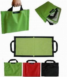 Fold-out lunch bag