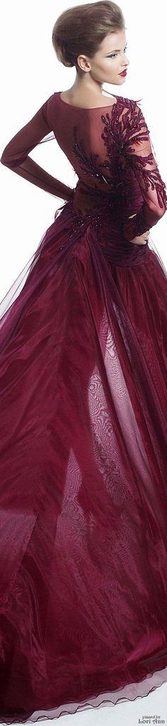 Robes De Gala, Couture 2015, Haute Couture, Grenat, Couleur Bordeaux,  Couleur 6bb5aa4ace0