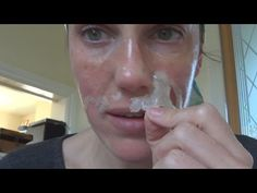 FUN way to GET RID of BLACKHEADS (DIY Biore face strips) -Vintagious - YouTube