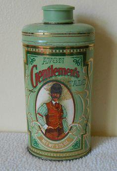 vintage talcum powder tin