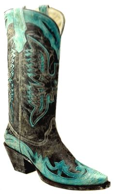 Get Paige Duke's (Sweet Home Alabama) turquoise cowboy boots from Corral Boots $262