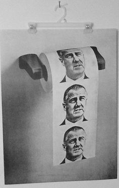 Fun Vintage 70's Political Poster Toilet paper Roll by Frommyattik