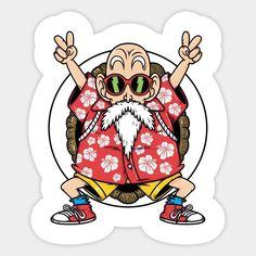 Anime Costume Kame senin - Roshi - Dragon ball Z Dragon Ball Z Shirt, Dragon Ball Gt, Anime Stickers, Cool Stickers, Funny Stickers, Anime Echii, Anime Naruto, Graffiti, Kid Goku