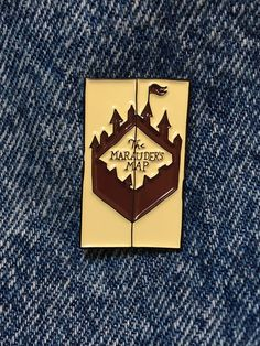 I SOLEMNLY SWEAR ENAMEL PIN BADGE BUTTON MAP CREST SCHOOL HOGWARTS HARRY POTTER