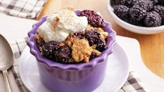 Let your slow cooker make tonight's dessert! Made with frozen blackberries, Betty Crocker cornbread and muffin mix, sugar, butter and cinnamon, our sweet cornbread blackberry cobbler is perfect with ice cream and a dollop of whipped cream.