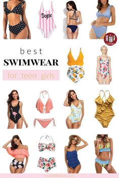 Cute swimsuits for teens. Stylish one pieces, chic bikinis, and more swimwear for summer.
