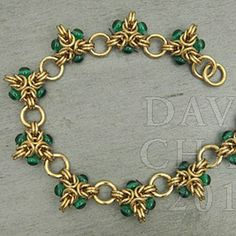 Instructions :: Tutorials :: Scott David Plumlee Tutorials :: Bracelet Tutorial - Beaded Tripoli - Aussie Maille - Chain Maille Supplies. Ju...