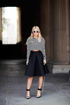 stripes + full skirt