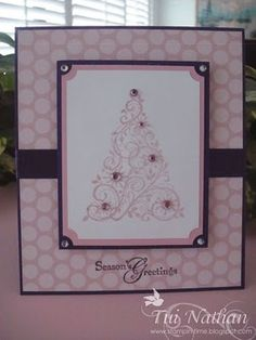 tree Christmas card; #card; #Christmas; #tree #craft