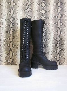 Vintage 1990's ALDO Brand Goth Combat Boots by foxandfawns