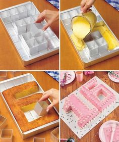 Alphabet Cake Pan way to cool and clever idea #cake decorating tips and tricks                                                                                                                                                                                 More
