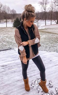 charming fall outfits ideas for women that looks cool 8 ~ my. - charming fall outfits ideas for women that looks cool 8 ~ my. Winter Outfits For Teen Girls, Casual Winter Outfits, Winter Fashion Outfits, Look Fashion, Autumn Winter Fashion, Trendy Outfits, Vest Outfits For Women, Winter Shoes For Women, Winter Style