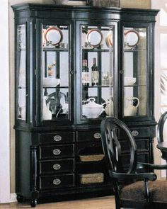 Images Of Black China Cabinets | Whole Sale ACME :China Cabinet Buffet Hutch  Black Finish
