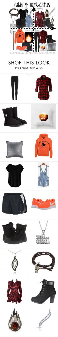 """Cabin 9: Hephaestus"" by aquatic-angel ❤ liked on Polyvore featuring DKNY, LE3NO, UGG Australia, Maison de Vacances, Cosabella, NIKE, Converse, Insignia Collection, DB Designs and Garrard"