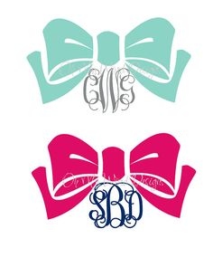 Bow Monogram Car Decal by OhMyWordDesigns on Etsy, $9.00
