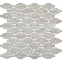 Chenille White3 x 1 1/2 Marquise Mosaic Polished. L191