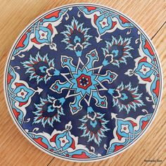 Iznik Tile with Tulip Design Stencil Painting, Ceramic Painting, Ceramic Art, Ceramic Coasters, Ceramic Wall Tiles, Pottery Painting Designs, Paint Designs, British Museum, Home Deco