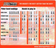 poker chip cheat sheet
