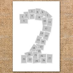 Diy number photo collage using instagram prints free for Photo collage number templates