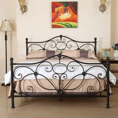 Elliott S Designs Tiffany 403 Wrap Canopy Bed Wrought Rod