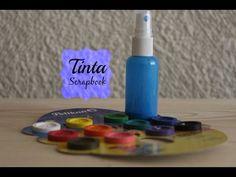 Tinta para scrapbook + mix media - YouTube