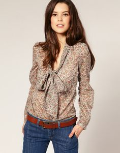 4. Oasis Pussy Bow Blouse - 7 Bow Neck Pieces of Clothing ... | All Women Stalk