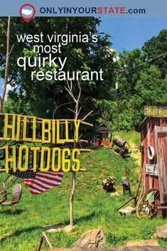 This quirky restaurant in Lesage plays with West Virginia stereotypes and delivers creative hot dogs with a tongue-in-cheek smile. Abandoned Amusement Parks, Abandoned Places, Abandoned Castles, Abandoned Mansions, Virginia Hill, Virginia Homes, Virginia Attractions, Hot Dog Restaurants, New River Gorge