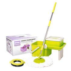 Mopnado Deluxe Compact Folding Spin Mop - Microfiber Mop with Bucket - Lime #Mopnado