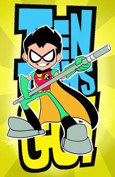 Robin Teen Titans Go! by jamart2013