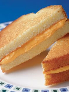 April Fools Grilled Cheese -- actually buttercream frosting sandwiched between two thick slices of sponge cake. More food tricks at the click.