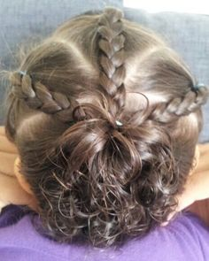 When her hair gets long enough to braid and she is patient enough to SIT!