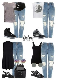 """""""*REQUESTED* Halsey Inspired Outfits with Shredded Mom Jeans"""" by littlemix-styleblog ❤ liked on Polyvore"""
