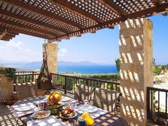 Rethymno villa rental - Great sea view from balconies! Gold Sand, Crystal Clear Water, Balconies, Swimming Pools, Pergola, Bbq, Villa, Outdoor Structures, Traditional