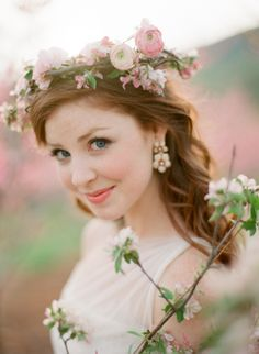 Cherry Blossom Floral Wreath - Elizabeth Anne Designs: The Wedding Blog