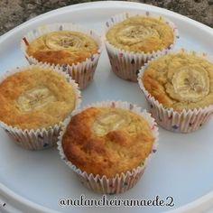 Na lancheira mãe de 2 - muffin de banana