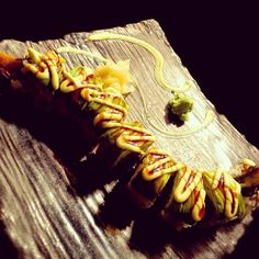 """Melty avocado, rolling up delicious BBQ eel - you can see why this sushi roll is called """"Dragon Roll"""", yes? (\˳˘ ɜ˘)˳ ♬♪♫"""