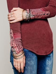 Free People We The Free Kyoto Cuff Thermal at Free People Clothing Boutique