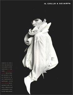 The White Shirt. Photo by Fabrizio Ferri 1989  Vogue Italia, July/August 1988
