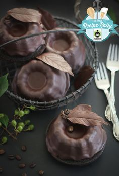 Baby Chocolate Bundt Cakes for Fair Trade Month!
