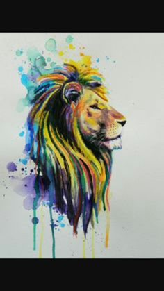 #lion #watercolour #tattoo