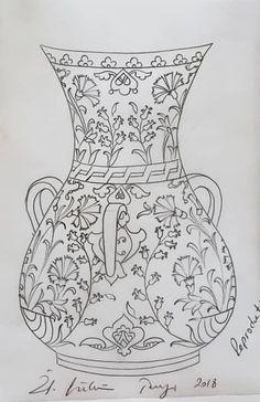 2d Design, Dot Painting, Tile Art, Vases Decor, Mehendi, Pottery Art, Pencil Drawings, Design Inspiration, Ceramics