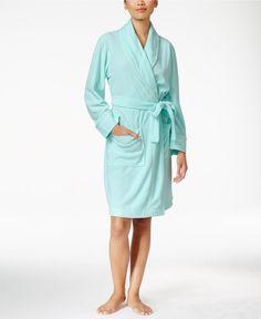 Charter Club Fleece Short Robe, Only at Macy's - Bras, Panties & Shapewear - Women - Macy's