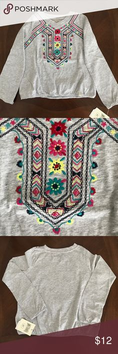 NWT!! Lucky Brand kids embroidered gray blouse 4T NWT!! Lucky Brand kids embroidered gray blouse 4T 100% cotton Lucky Brand Shirts & Tops Blouses